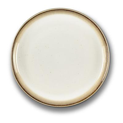 Bitz Gastro flad tallerken grå/ creme 17 cm