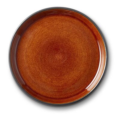 Bitz Gastro flad tallerken sort/amber 17 cm