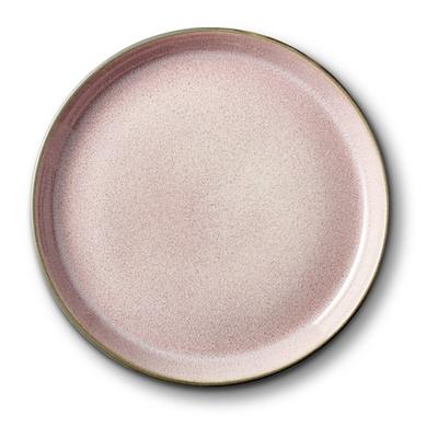 Bitz Gastro flad tallerken grå/lyserød 17 cm