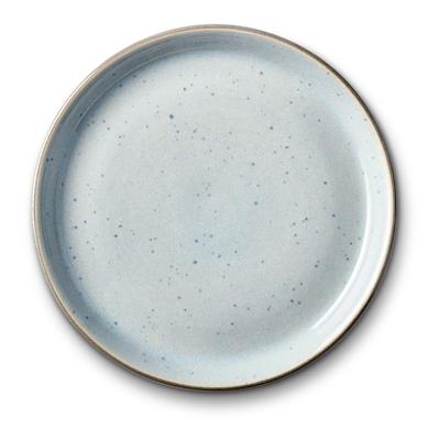 Bitz Gastro flad tallerken grå/ lyseblå 17 cm