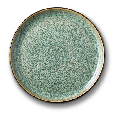 Bitz Gastro tallerken sort/ grøn 17 cm