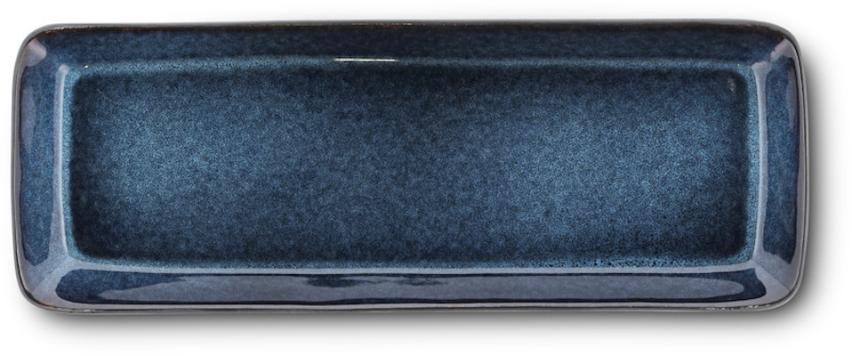 Bitz serveringsfad 38 x 14 cm blå