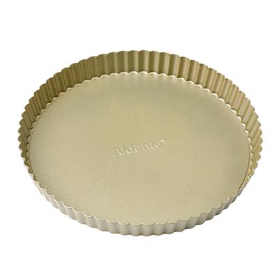 Aldente tærteform guld med løs bund 26 cm ny