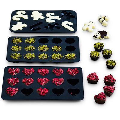 Blomsterbergs chokoladeform 3 forme silikone