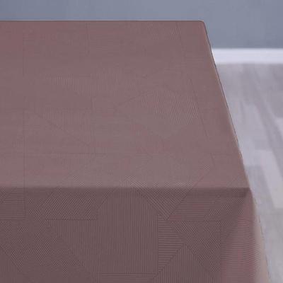Södahl damask dug complex 140x320 cm dusty berry