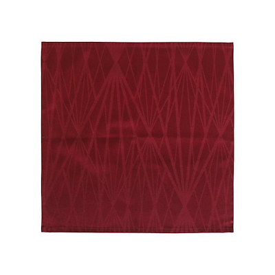 Södahl damask diamond grid mundserviet 45x45 cm rød 4 stk