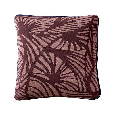 Södahl Deco Leaves pude 50x50 cm dusty berry