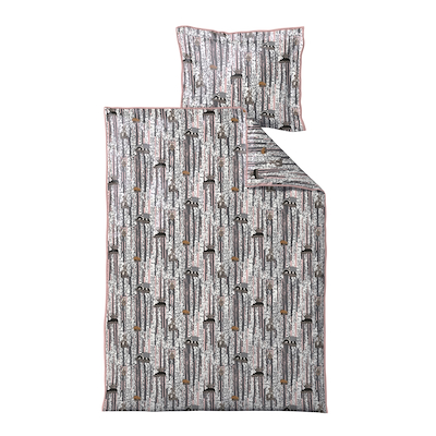 Södahl Sleepy Friends sengesæt til børn rosa 70x100 cm