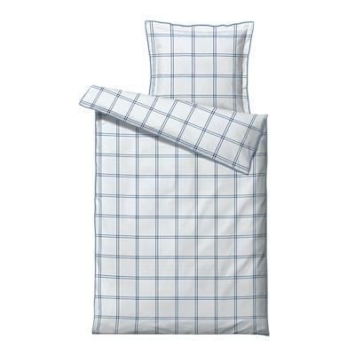 Södahl Check It Out sengesæt china blue 140x220 cm