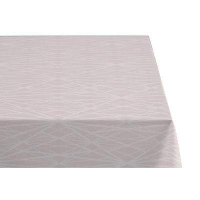 Södahl damask dug diamond grid 140x370 cm rose med staincoat