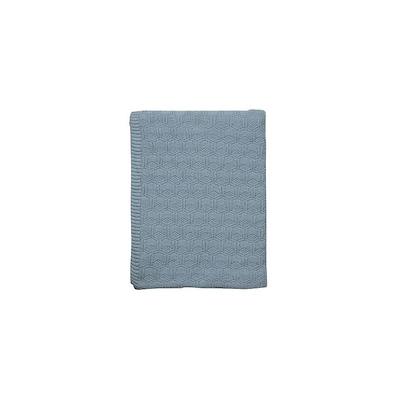 Södahl Deco Knit plaid 130x170 cm linen blue