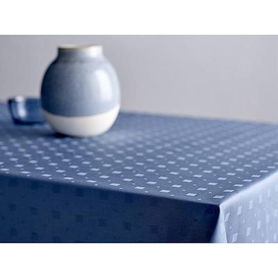 Södahl damask dug Squares 140x270 cm china blue