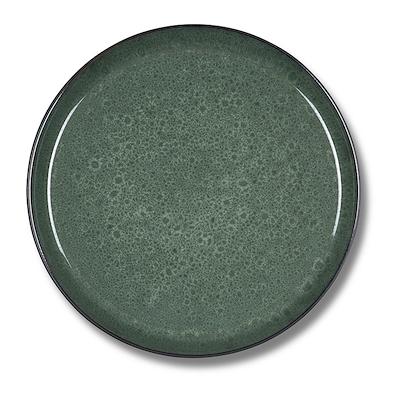 Bitz Gastro flad tallerken sort/grøn 27 cm
