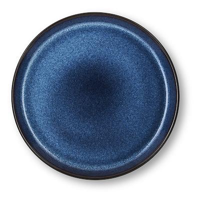 Bitz Gastro flad tallerken sort/mørkeblå 21 cm