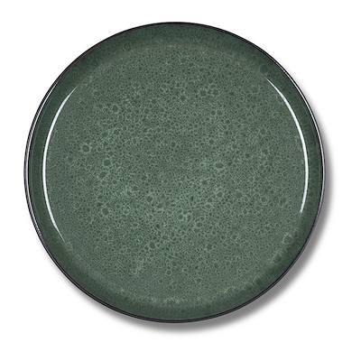 Bitz Gastro flad tallerken sort/grøn 21 cm