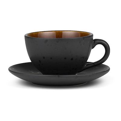 Bitz kop med underkop sort/amber 24 cl