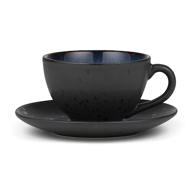 Bitz kop med underkop sort/mørkeblå 24 cl