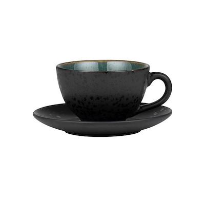Bitz kop med underkop sort/grøn 24 cl