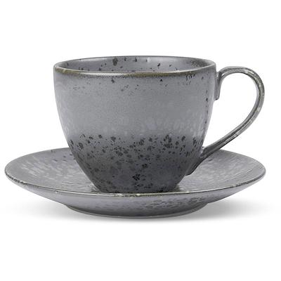 Bitz cappuccinokop med underkop grå 24 cl