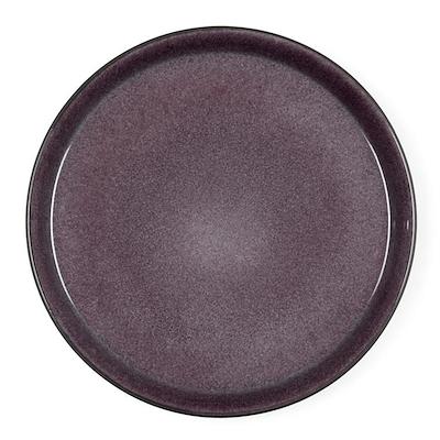 Bitz Gastro flad tallerken sort/lilla 27 cm