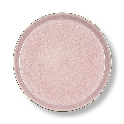 Bitz Gastro flad tallerken grå/lyserød 27 cm