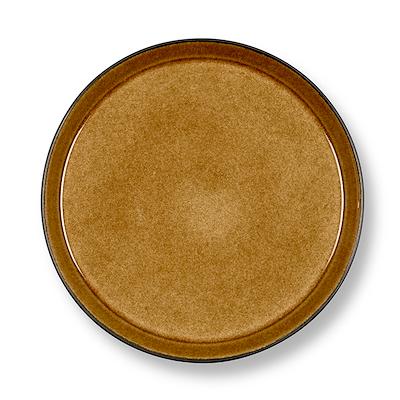 Bitz Gastro flad tallerken sort/amber 21 cm