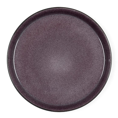 Bitz Gastro flad tallerken sort/lilla 21 cm
