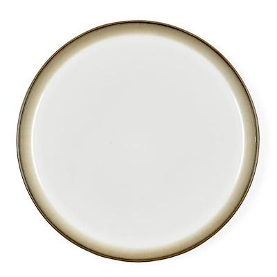 Bitz Gastro flad tallerken grå/creme 21 cm