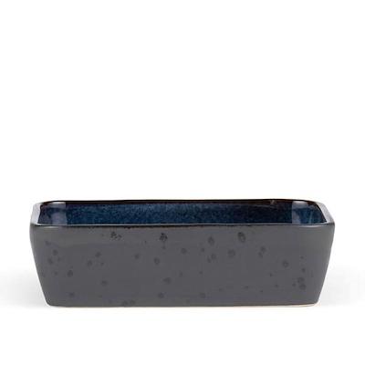 Bitz fad rektangulær sort/mørkblå 30x17 cm