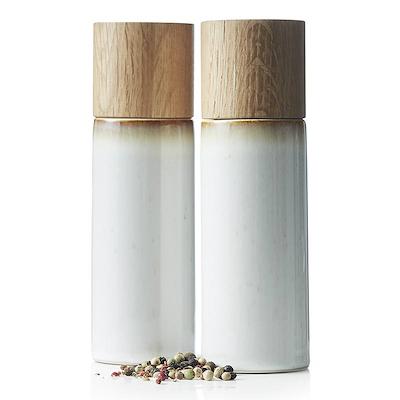 Bitz salt- og peberkværn creme 17 cm
