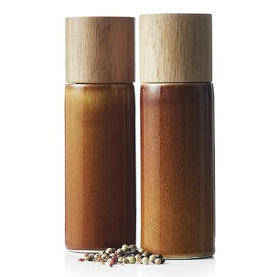 Bitz salt- og peberkværn amber 17 cm