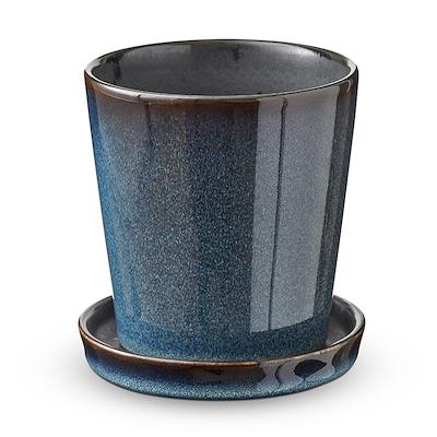 Bitz skjuler med underskål mørkeblå/sort 10 cm