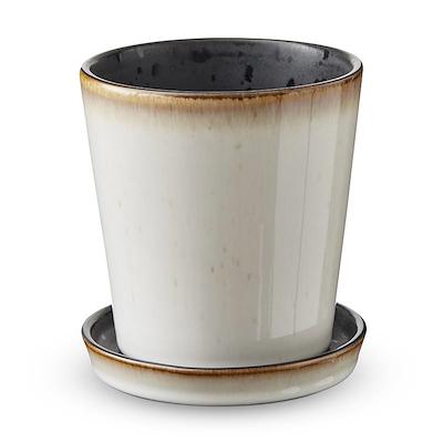 Bitz skjuler med underskål creme/ sort 10 cm