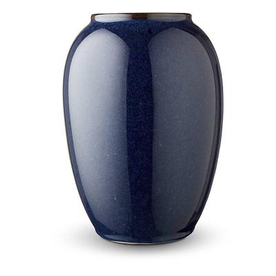 Bitz vase blå 20 cm