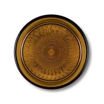 Bitz Kusintha glastallerken amber 18 cm