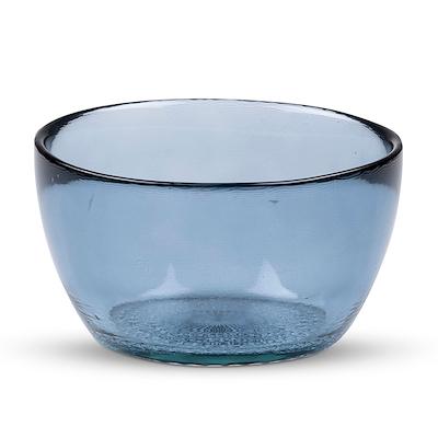 Bitz Kusintha skål glas blå 12 cm