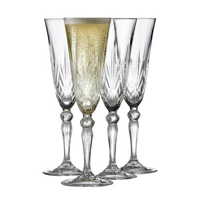 Lyngby Glas Melodia champagneglas 4 stk. 16 cl