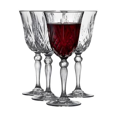 Lyngby Glas Melodia rødvinsglas 4 stk. 27 cl