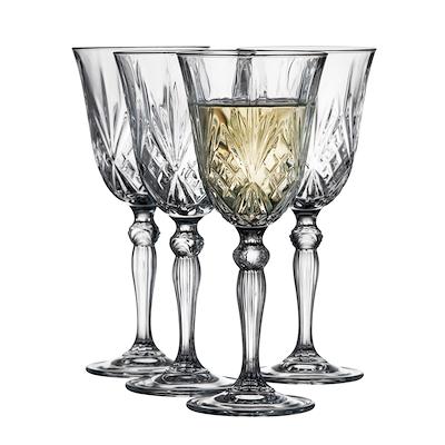 Lyngby Glas Melodia hvidvinsglas 4 stk. 21 cl