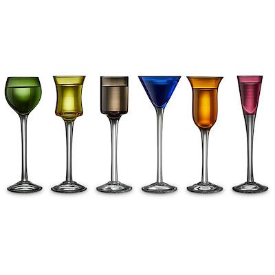 Lyngby Glas snapseglas 6 stk. assorteret
