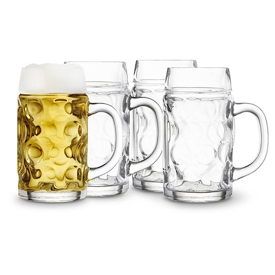 Lyngby Glas ølkrus 4 stk. 0,5 liter