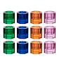Lyngby glas fyrfadsstager i farver 12 stk