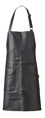 Læderforklæde sort 65x80 cm