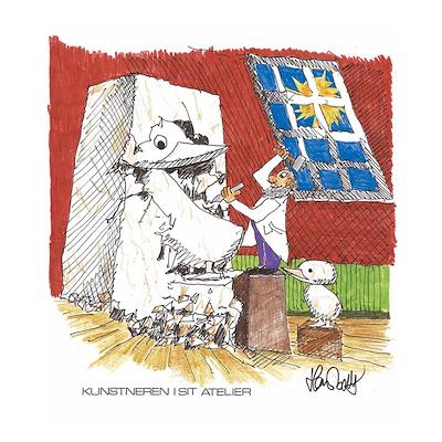 Architectmade plakat Kunstneren i sit atelier 50x70 cm