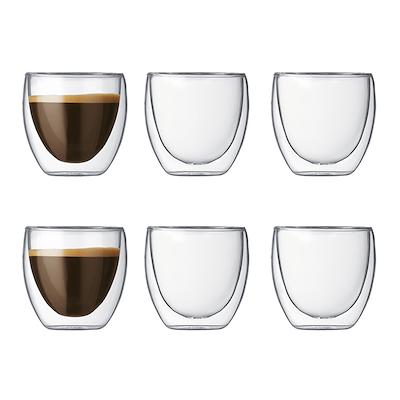 Bodum Pavina dobbeltvægget espressoglas 6 stk 8 cl