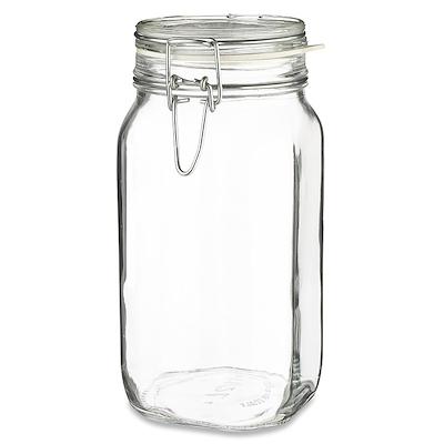 Bormioli Henkogningsglas 1,5 liter firkantet glas