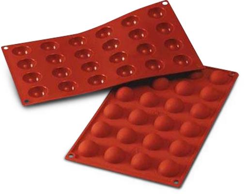 Silikomart halvkugle silikoneform 24 stk