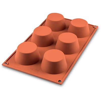 Silikomart muffin silikoneform 6 stk