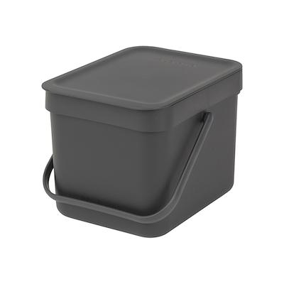 Brabantia sortering affaldsspand 6 liter grå