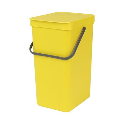 Brabantia sortering affaldsspand 16 liter gul